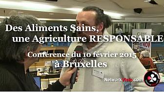 AgroEcologie PAC 2020 :  Benoit Biteau Agroforestier au micro de Michel Lecomte à Bruxelles le 10 février 2015