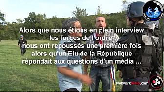 Barrage de Sivens dans le Tarn: L'élu de la République Benoit BITEAU repoussé 2 fois par les forces de l'ordre en plein interview @Networkvisio