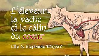 l'éleveur, la vache et le câlin du coeur